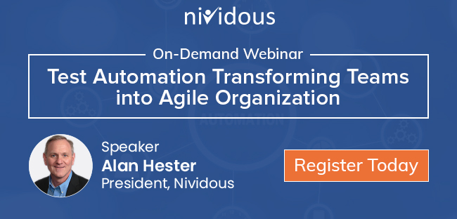 On demand webinar test automation transforming terms into agile organization