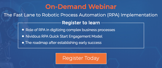 On Demand webinar The Fast Lane to Robotic Process Automation Implementation