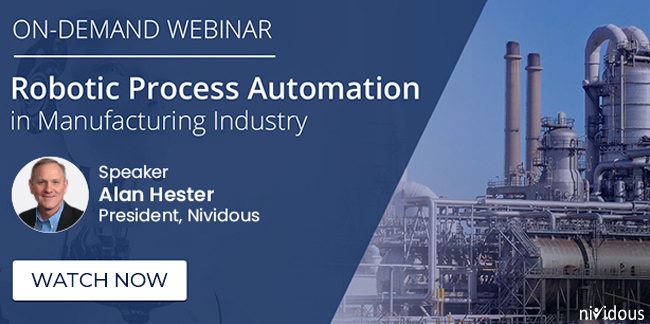On demand webinar RPA in manufacturing industry