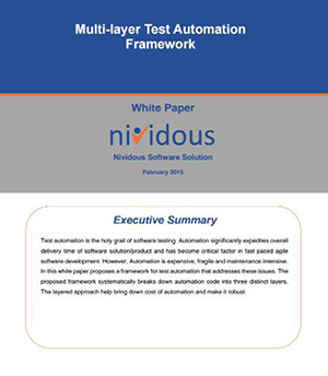 Whitepapers on Multilayer Test Automation Framework
