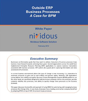 Whitepapers A Case for Business Process Management <br>Platform: Outside ERP Business Processes