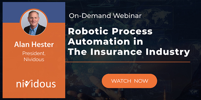 Ondemand webinar on Robotic Process Automation in the Insurance Industry
