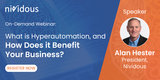 On Demand webinar on What is Hyperautomation, and How Does it Benefit Your Business?